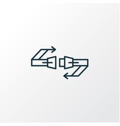 seat belt icon line symbol premium quality vector image