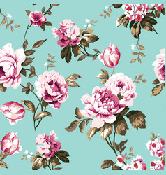 Shabby chic vintage roses seamless pattern vector