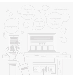 Smart Home and Control Device vector