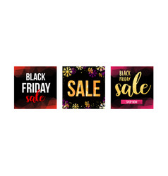 square sale web banner for social media vector image