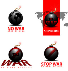 Stop war vector image