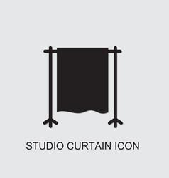 Studio curtain icon vector