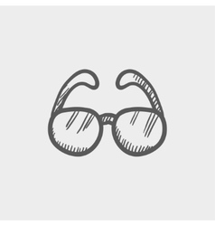 Sunglasses sketch icon vector image