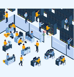 system administrator background vector image