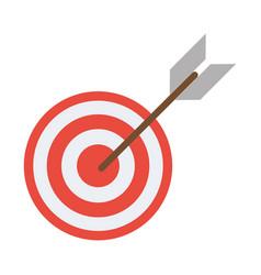 target arrow strategy market vector image