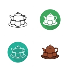 Tea ceremony icons vector