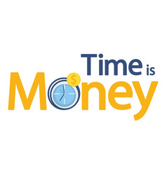 time is money business vector image