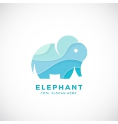 Tiny Elephant Abstract Logo Template Sign vector image