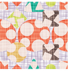 Tissue abstract print with geometric shapes vector