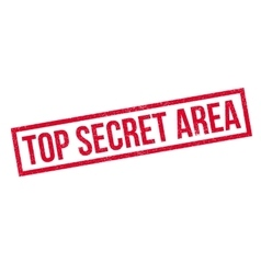 Top Secret Area rubber stamp vector