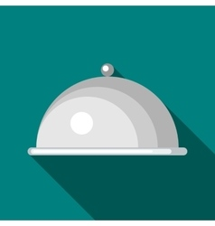 Tray with lid icon flat style vector image