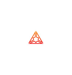 triangle abstract technology design logo vector image