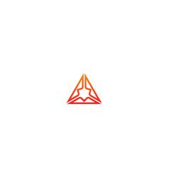 Triangle abstract technology design logo vector