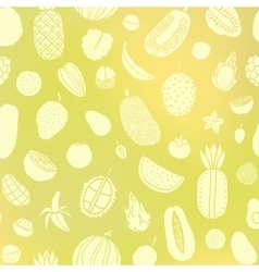 Tropic fruit background vector