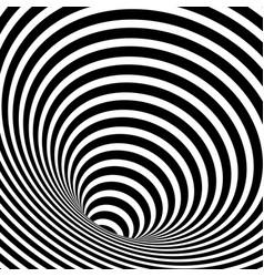 Wormhole optical illusion geometric background vector