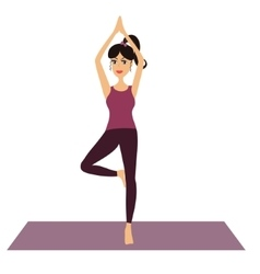 Young Girl doing yoga vector image
