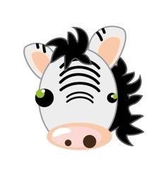 zebra animal cartoon vector image vector image