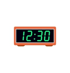 Digital table clock icon flat style vector image