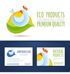 Farm eco production branding style vector image