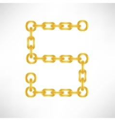 Gold number 5 vector