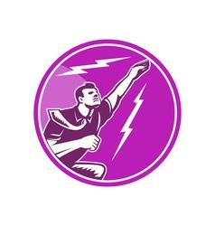 Businessman Rebounding Flying Up vector image vector image