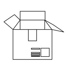 cardboard box icon image vector image vector image