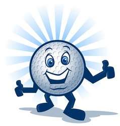 Golf Ball Character vector image