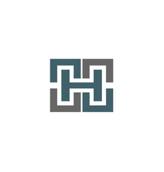 letter h logo icon design sign vector image vector image