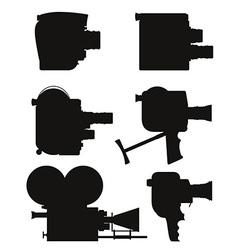 old retro vintage movie video camera 07 vector image vector image