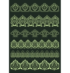 Persian floral borders with oriental elements vector image vector image