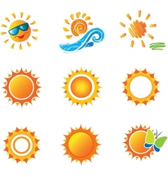 Set of Suns vector image