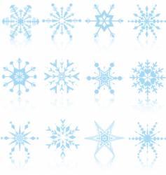 snowflakes design vector image