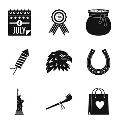 calendar icons set simple style vector image