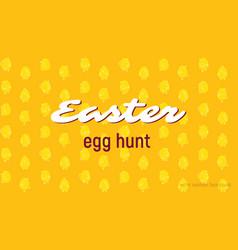 easter egg hunt card seamless pattern vector image vector image