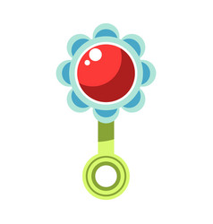 kid toy children plaything infant rattle vector image