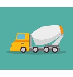 mixer truck construction icon design vector image