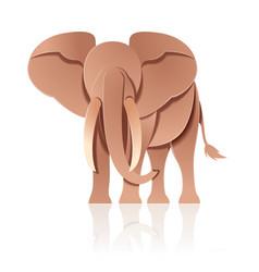 paper decor elephant vector image