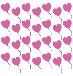 Pink heart lovely valentine day seamless pattern vector