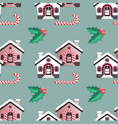 Seamless pattern of christmas candy cane vector