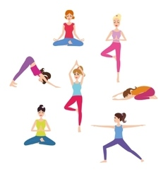 Set of yoga class vector