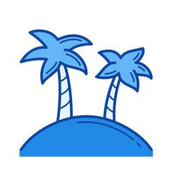 tropical island line icon vector image