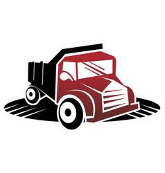 truck pickup logo template vector image