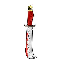 comic cartoon sword vector image vector image