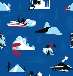 cruise travel background vector image
