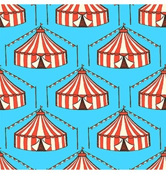 Sketch circus in vintage style vector image vector image