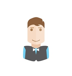 waiter avatar vector image vector image
