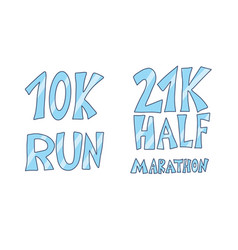 10k and 21k run text isolated text vector