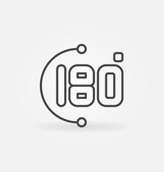 180-degrees linear concept icon or logo vector