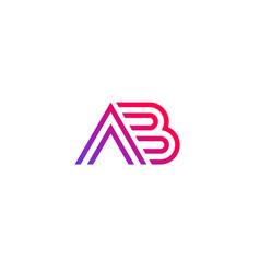 Ab logo monogram design vector