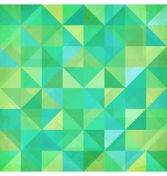 Abstract geometry trianglesgreen pattern vector